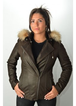 Blouson Cuir MURPHY VIRGINIA Marron