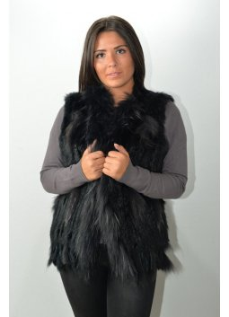 Gilet Fourrure Femme MURPHY X26 Noir
