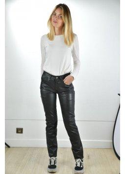 Pantalon Cuir Femme GIORGIO JEANS Noir
