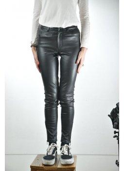 Pantalon Cuir Stretch PELLESSIMO CARINE Noir