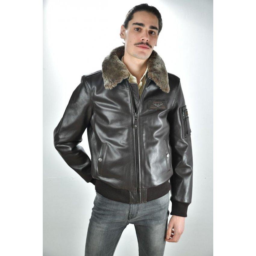 Veste ou blouson en cuir homme