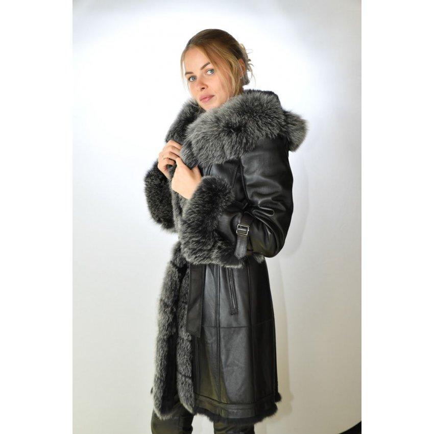 manteaux femme cuir et fourrure