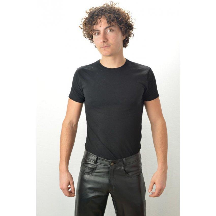 meilleur pas cher 76b83 57353 Pantalon Cuir Homme LAST REBELS JEANS Noir