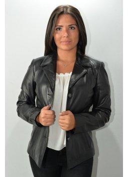 Blazer Cuir Femme MURPHY LEVANA Noir