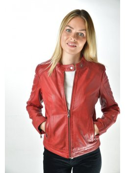 Blouson Cuir FASHION ROCK 1690 Rouge