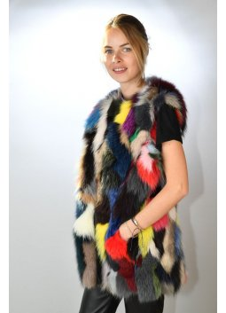 Gilet Fourrure Femme ALPINA Multicolore
