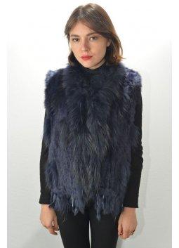 Gilet Fourrure Femme MURPHY X 26 bleu