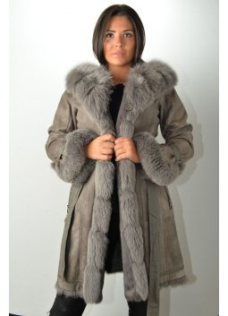Manteau Fourrure GIOVANNI NUMBER ONE Gris