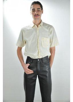 Pantalon Cuir MADDOX JEANS Noir
