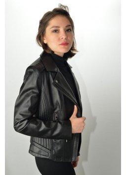 Blouson Cuir Femme GIOVANNI RACHEL Noir