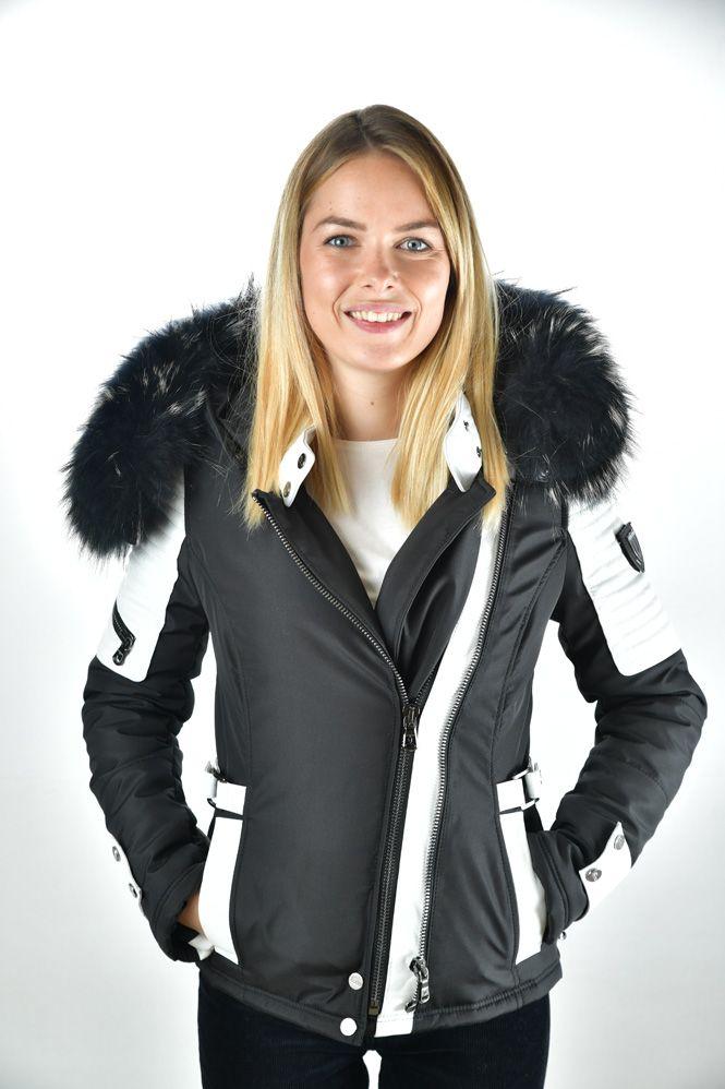 Manteau ventiuno femme noir et blanc