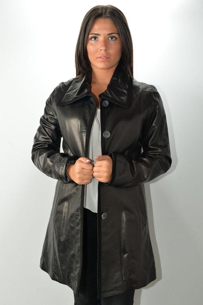 Manteau Cuir Femme Mac Douglas Amelia Noir Murphy Cuir f147628572f