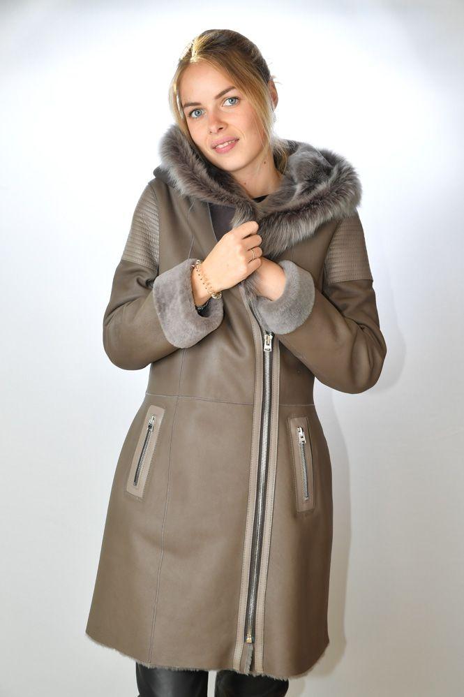 manteau peau lain e femme giorgio rouxandra stone murphy. Black Bedroom Furniture Sets. Home Design Ideas