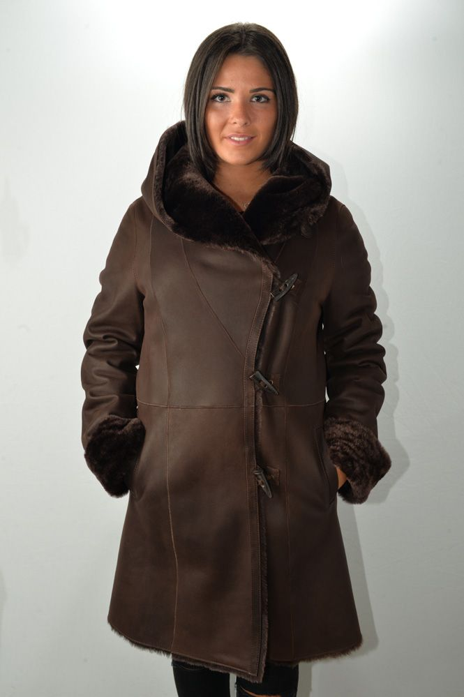 manteau peau lain e femme murphy ia marron murphy cuir