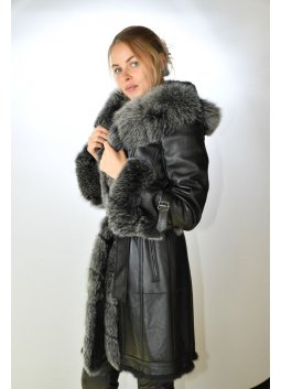 Manteau Fourrure Femme GIOVANNI NEW ONE Noir